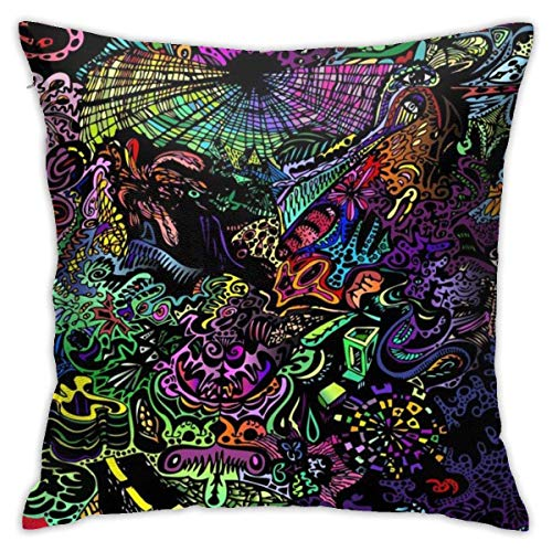 Throw Pillow Cover Cushion Cover Pillow Cases Decorative Linen Pattern Colorful Print for Home Bed Decor Pillowcase,45x45CM