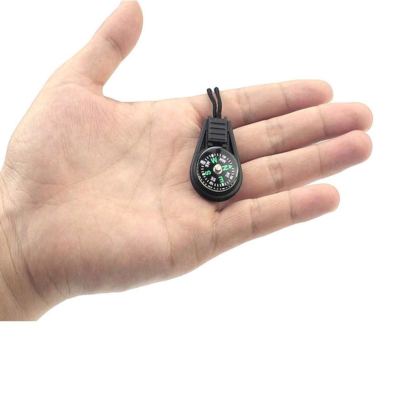 つかむ限られた保存するロープペンダント付き小型コンパスミニコンパスコンパス-ブラック