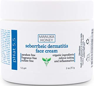 Sponsored Ad - Seborrheic Dermatitis Cream with Manuka Honey, Coconut Oil and Aloe Vera - Moisturizing Face and Body Anti ...