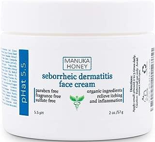 Seborrheic Dermatitis Cream with Manuka Honey, Coconut Oil and Aloe Vera - Moisturizing Face and Body Anti Itch Cream and Skin Treatment for Sensitive Skin - Natural & Organic Cream (2 oz)