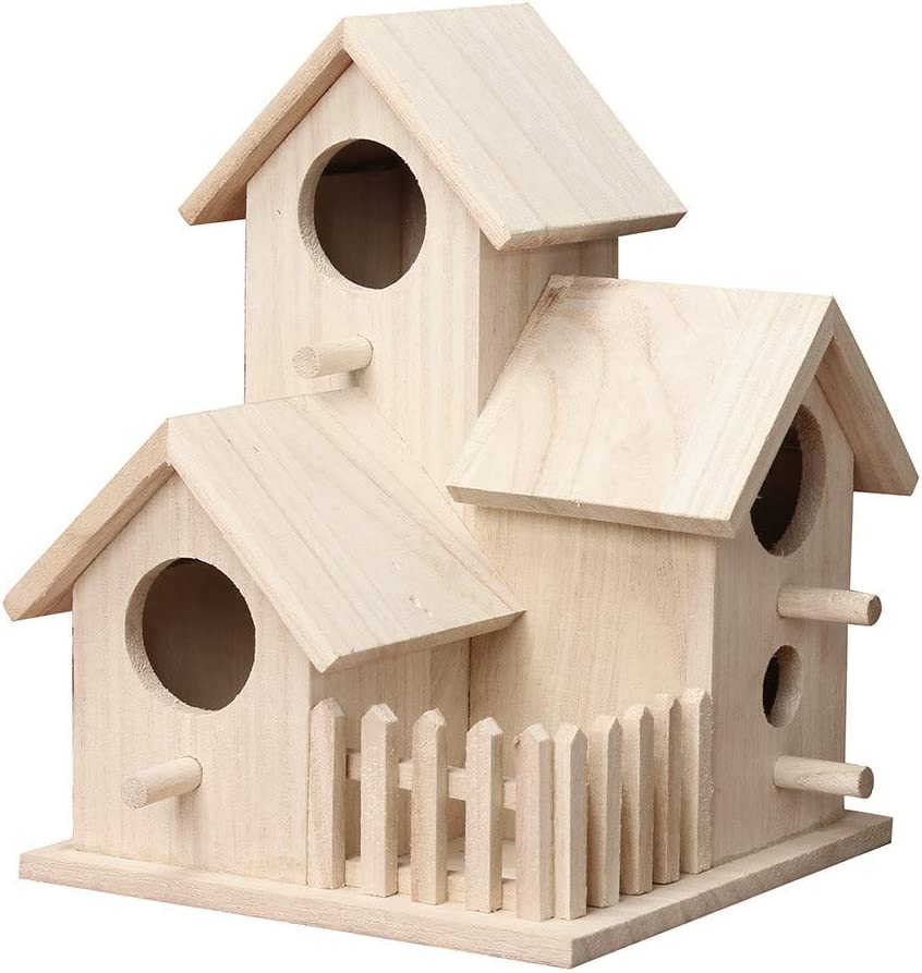 charts_DRESS Wooden free Free shipping anywhere in the nation shipping Birdhouse Provides Y Bird in Entertainment