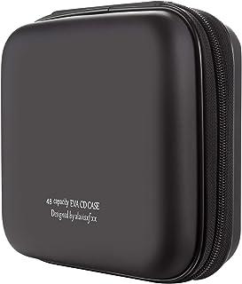 KUOCDSIK Estuche para CD, estuche tipo billetera para CD de EVA Blue-ray de 48 capacidades, soporte organizador de disco p...