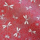 Werthers Stoffe Stoff Baumwolle Meterware rot weiß