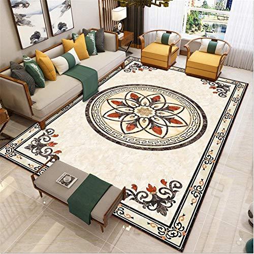 GQBN Teppich Vorraum Anpassbarer Heim- und Handelsteppich im traditionellen Stil Teppich Natur Spiel Teppich tan 140 * 200CM