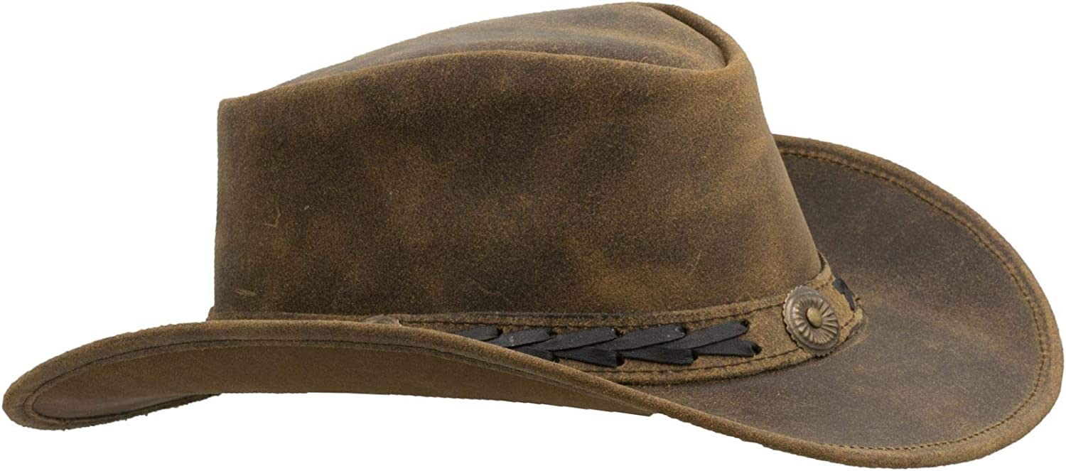 Walker and Free shipping New Hawkes Limited time for free shipping - Leather Cowhide Outback Hat Antique