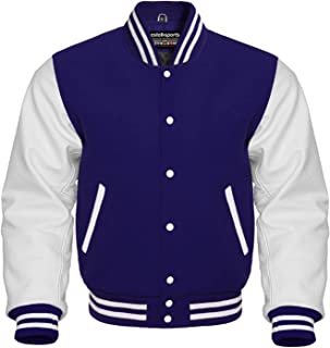 Best mens baseball jacket with leather sleeves Reviews