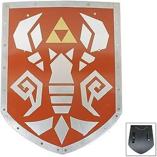 Swordsaxe Legend of Zelda Link Green Elf Warrior Phantom Hourglass Cosplay Replica Steel Shield
