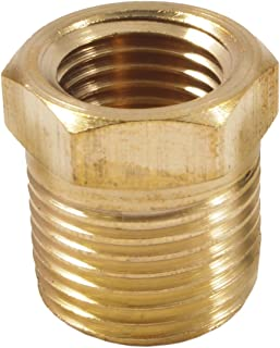 Forney 75535 Brass Fitting, Bushing, 1/4-Inch Female to 3/8-Inch Male NPT