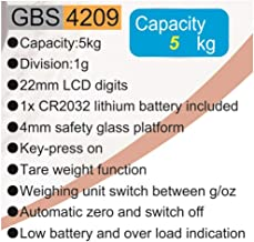 Geepas Digital Kitchen Scale 5Kg (Model GBS4209)