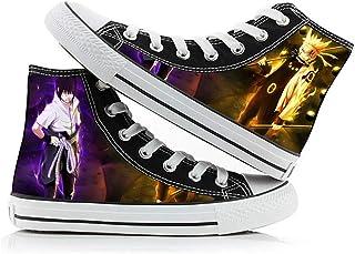 XYUANG Naruto Uchiha Itachi/Kakashi Anime Canvas Shoes Zapatilla de Deporte Zapatos de Lona