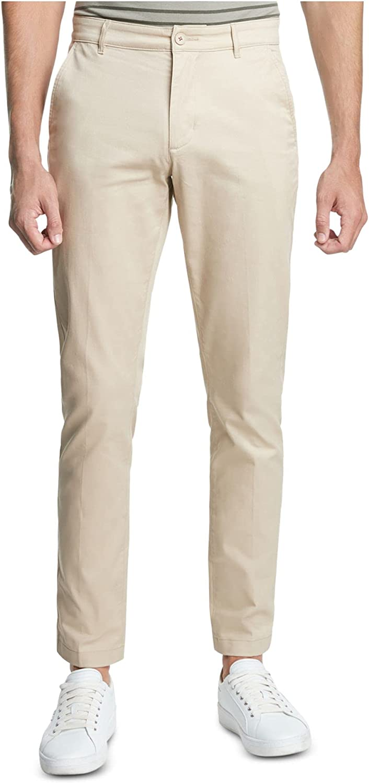 DKNY Mens Beige Straight Fit Pants 32W/ 32L