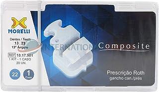 Orthodontic Dental Morelli Composite White Aesthetics Brackets Kit Roth Braces