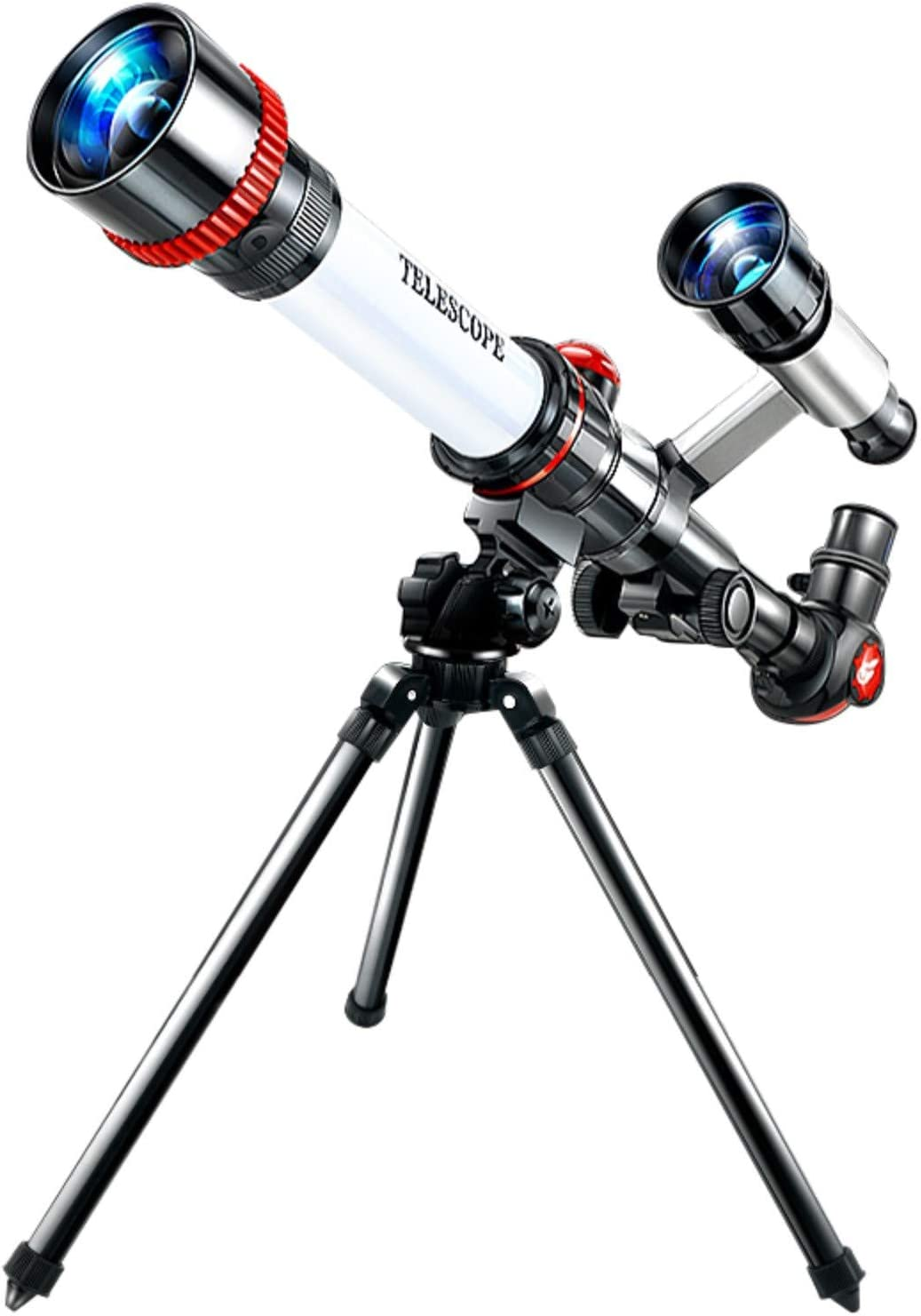 Wireless with Tripod 50mm Aperture 600mm Mount Astronomical Refracting Telescope for Kids Beginners Travel Telescope with Carry Bag reflectuton Telescope