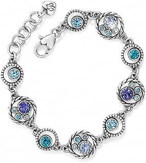 Halo Swarovski Crystal Silver Plated Bracelet