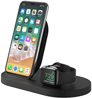 Belkin Boostup Wireless Charging Dock for Apple iPhone/Apple Watch/USB-A Port, Black