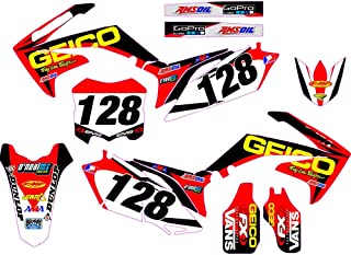 For HONDA CRF250R CRF250 2010 2011 2012 2013 Custom Backgrounds Number Plate Graphics Sticker & Decals Kits