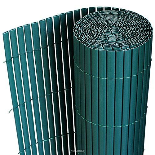 [neu.haus] PVC Sichtschutzmatte 200x300cm grün Sichtschutz Windschutz Gartenzaun Balkon Umspannung Zaun