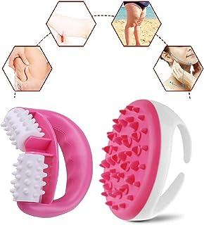 Cepillo anticelulítico masajeador para una piel tensa, masaje, bienestar y belleza (color rosa)