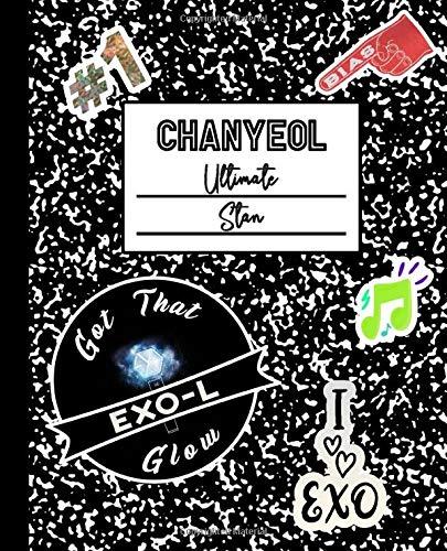 Chanyeol Ultimate Stan: Exo Mock Sticker Filled Kpop Bias Merch Notebook 7.5 x 9.25