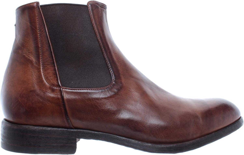 PANTANETTI Herren Schuhe Schuhe Stiefeletten 12581E Nebula Moicano Leder Braun Neu  Verkauf