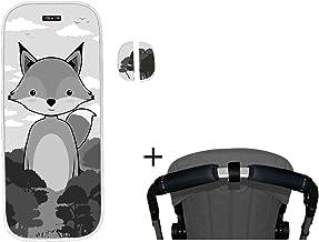 Tris & Ton conjunto colchoneta silla paseo + empuñadura funda protector manillar + protector arneses PMH N (Trisyton) (Fox)