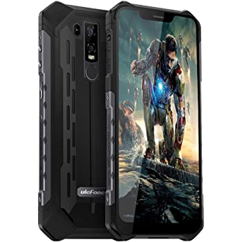 "Ulefone Armor 6E Rugged Cell PhonesUnlocked, Rugged Phones Unlocked 4G Waterproof Dual Sim 4G 6.2"" FHD Android 9.0 Helio P70,4GB+64GB,5000Mah,NFC+ Face ID+ UV Senso+GPS+Wireless Charge Black"