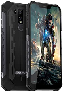 "4G Rugged Phones Unlocked Ulefone Armor 6E, Waterproof Rugged Cell Phones Unlocked 4G Dual Sim 4G 6.2"" FHD Android 9.0 Helio P70,4GB+64GB,5000Mah,NFC+ Face ID+ UV Senso+GPS+Wireless Charge Black"