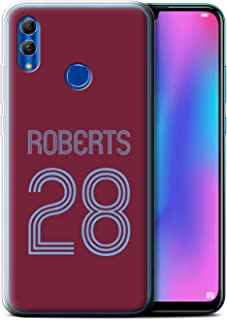 Personalized Custom Soccer Club Jersey Shirt Kit Gel/TPU Case for Huawei Honor 10 Lite 2018 / Claret Blue Design/Initial/Name/Text DIY Cover