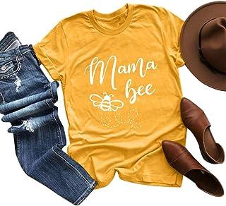 ANOKA Mama bee Funny Womens Graphic Tees Short Sleeve Tops
