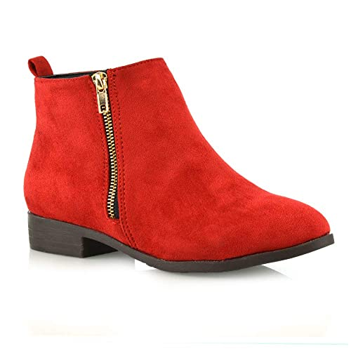 389f05269dc Red Flat Boots: Amazon.co.uk