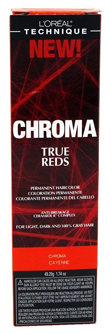 寛解防ぐメールを書くL'Oreal Technique Chroma True Reds - Chroma Cayenne - 1.74oz / 49.29g