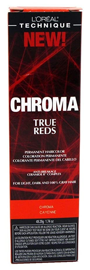 弾丸テクトニックオーバーヘッドL'Oreal Technique Chroma True Reds - Chroma Cayenne - 1.74oz / 49.29g