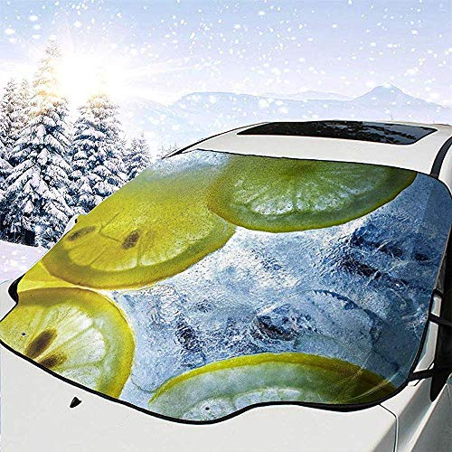 Erfrischende Limonade Auto Windschutzscheibe Sonnenschutz Abdeckung vorne Wasser Sonnenlicht Schneedecke