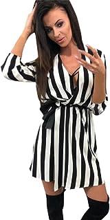 purchase cheap 09161 85d18 Amazon.it: Vestito nero a righe