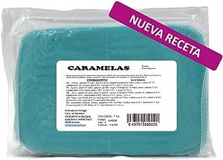Caramelas Pasta Fondant Portuguesa Azul Cielo: Fácil de Usar, Flexible, para Repostería Casera y Profesional, Sin Gluten, 1kg