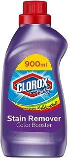 Clorox Clothes Original Liquid Colored Clothes Color Booster, 100% Stain Removal, 900ml