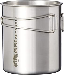 GSI Outdoors Rugged Glacier Stainless Steel Bottle Cup 20 oz for Solo Camping and Backpacking