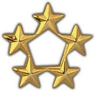 5 Star General Rank Pin - Gold Finish