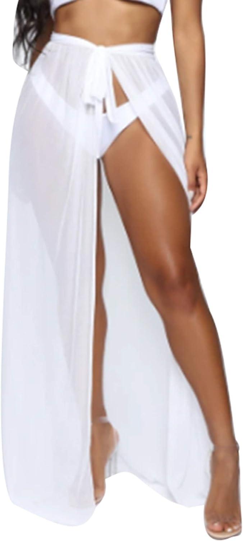 Women Sexy Short See Through Sarong Wrap Sheer Skirts Chiffon Beach Swimwear Bikini Cover Ups Summer Shawl Crop Tops