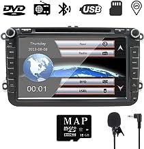 8 Pulgadas para Auto estéreo Doble DIN con DVD/Navegación GPS/RDS/Bluetooth/Control de Rueda/Ajuste para V W/Jetta/Passat/Golf Auto Radio en el Tablero DVD