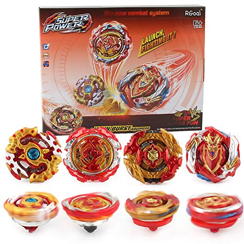 Burst Bey Battle Battling Fusion Set 4 in 1 Top Gyro Battle Evolution Avatar Attack with 4D Launcher