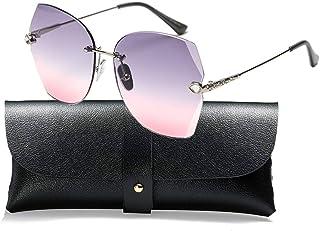 SOSUSHOE Sunglasses For Women Oversized Rimless Diamond...