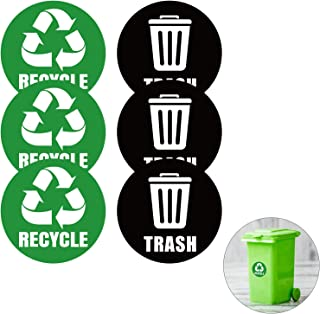 Recycle Sticker,Self-Adhesive Recycle And Trash Bin Logo Stickers, Round Logo Sign Recycle Sticker For Trash Can Recycle B...