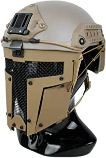 DLP Tactical Quick Release Polymer & Steel Full Face Mask for ARC Rail Equipped Fast/ACH/MICH Combat Helmets