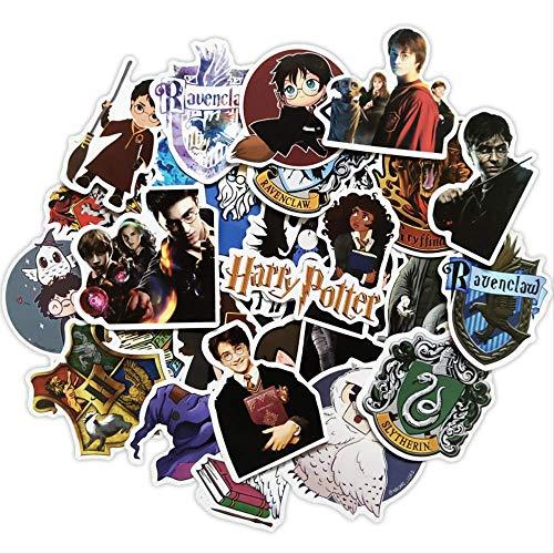 KEJIA Pegatinas de Maleta circundante de Harry Potter, Caja con Ruedas, Panel de Guitarra para Ordenador portátil, Pegatinas Decorativas de Pared, 30 Piezas
