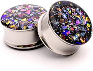 nugroho_mys Embedded Dichroic Glass Plugs gauges
