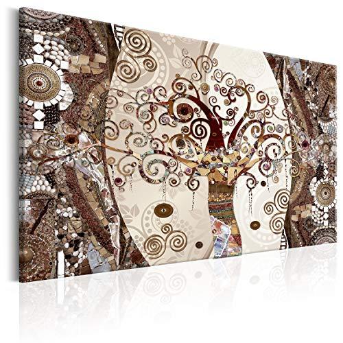 murando Quadro Gustav Klimt Albero della vita 90x60 cm 1 pezzo Stampa su tela in TNT XXL Immagini moderni Murale Fotografia Grafica Decorazione da parete Astratto l-A-0004-b-d