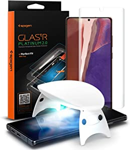 Spigen Tempered Glass Screen Protector [Glas.tR Platinum] designed for Galaxy Note 20