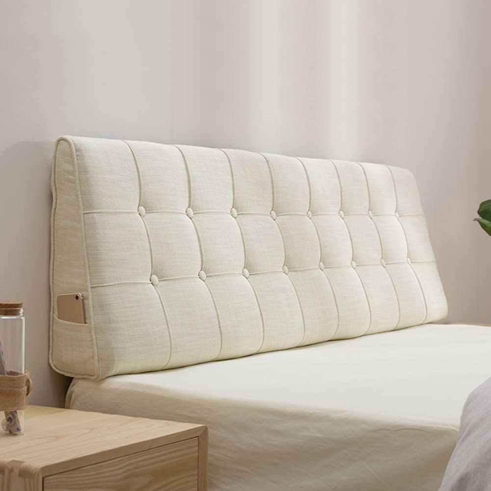 LIANGJUN Headboard Cushion Lumbar Pad Pillow Max 89% OFF Bombing free shipping Linen Fabric Remova