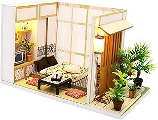 Baosity 1:24 DIY Dollhouse Miniature Kits Wooden Handmade Creative Japanese Room